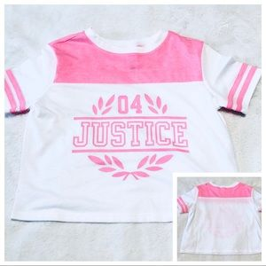 🆕Girl's JUSTICE Color Block Logo Tee